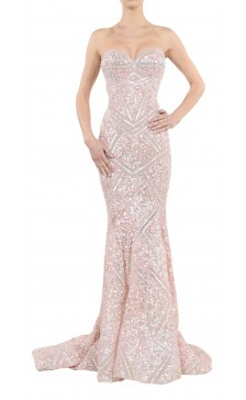 Aden Sequined Mermaid Cut Gown