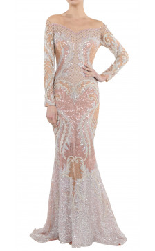 Nicolas Jebran Sequined Gown